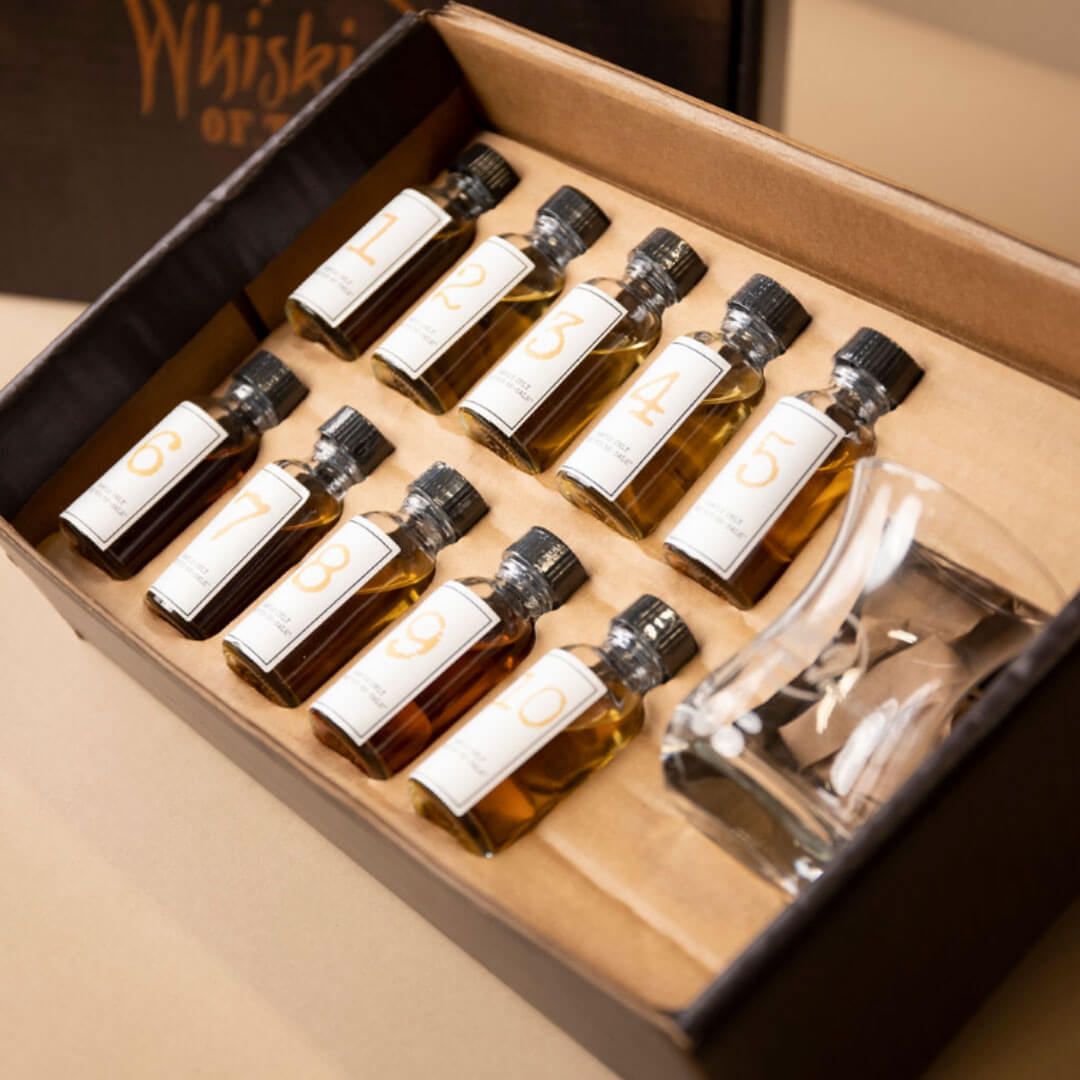 Ten 1oz. complimentary whiskey samples